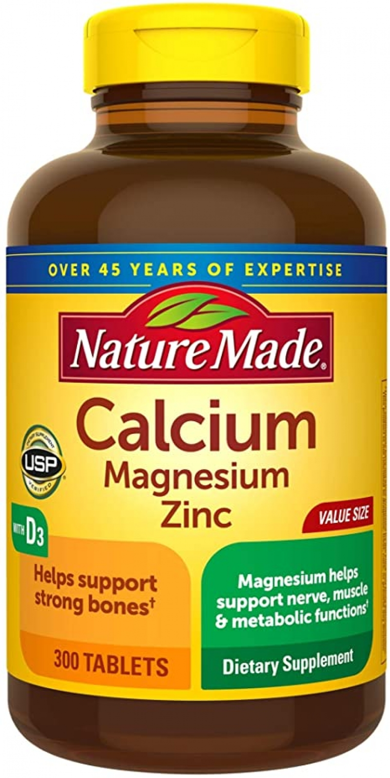 ihocon: Nature Made Calcium, Magnesium Oxide, Zinc with Vitamin D3 helps support Bone Strength, Tablets, 300 Count   鈣片