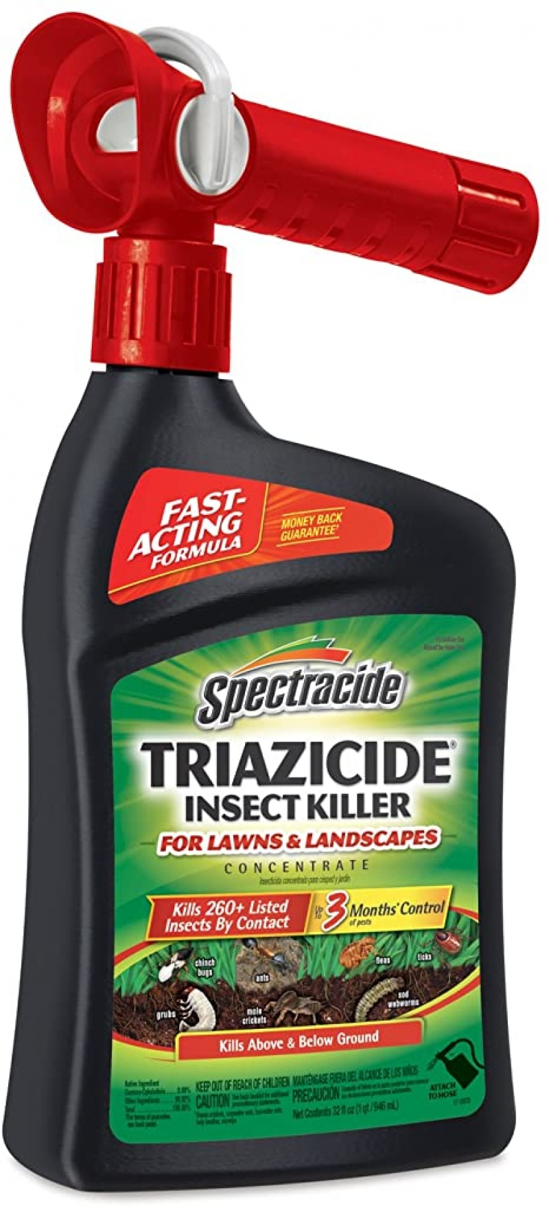 ihocon: Spectracide Triazicide Insect Killer For Lawns & Landscapes Concentrate, Ready-to-Spray, 32-Ounce 庭園殺蟲劑