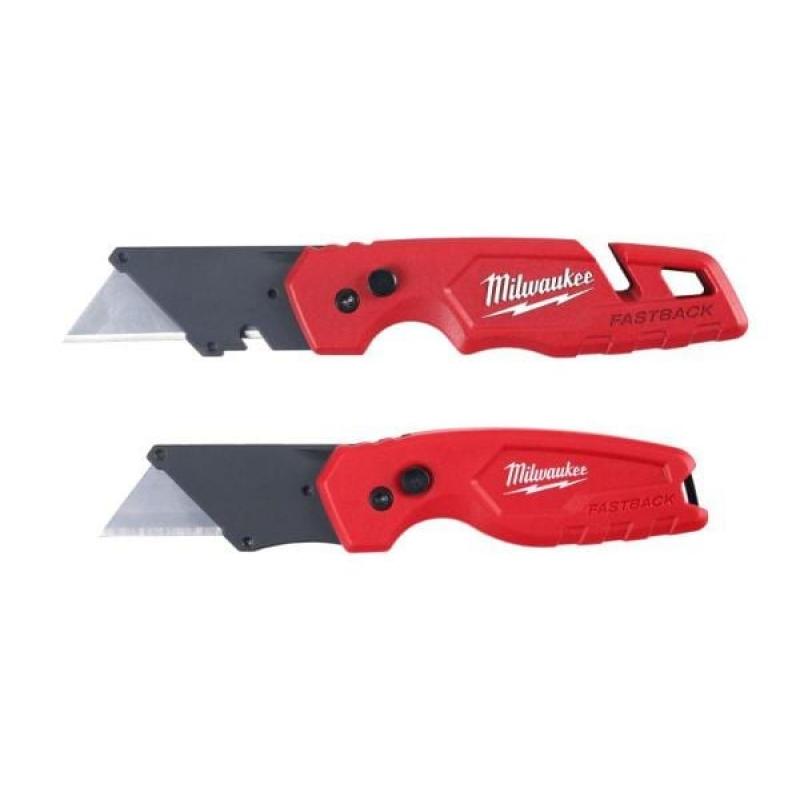 ihocon: Milwaukee FASTBACK Folding Utility Knife with Blade Storage (2-Pack) 折疊式美工刀 2把