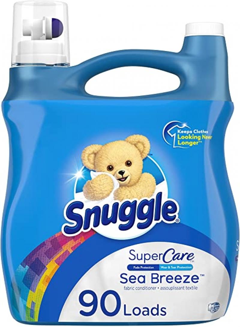 ihocon: Snuggle SuperCare Liquid Fabric Softener, Sea Breeze, 95 Ounce, 90 Loads 衣物柔軟劑