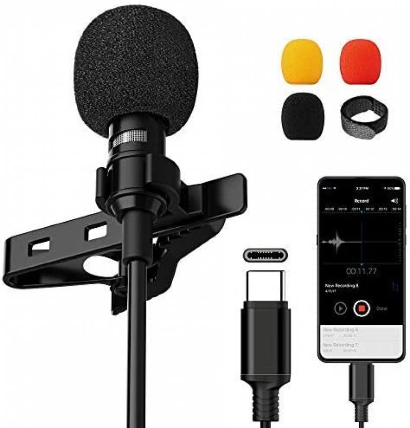 ihocon: VIC VSEE Professional Type-C Lavalier Lapel Microphone for Android 手機麥克風