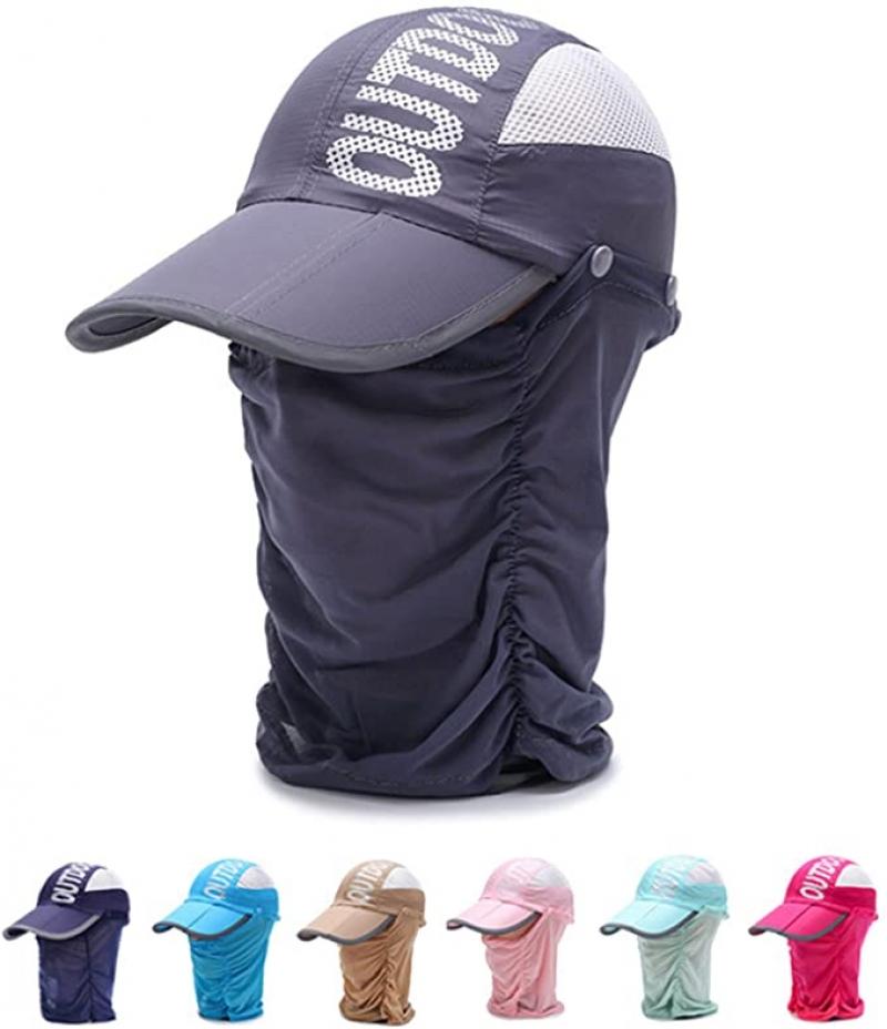 ihocon: IZUS Sun Caps Outdoor Hat 遮陽帽, 含可拆式面罩