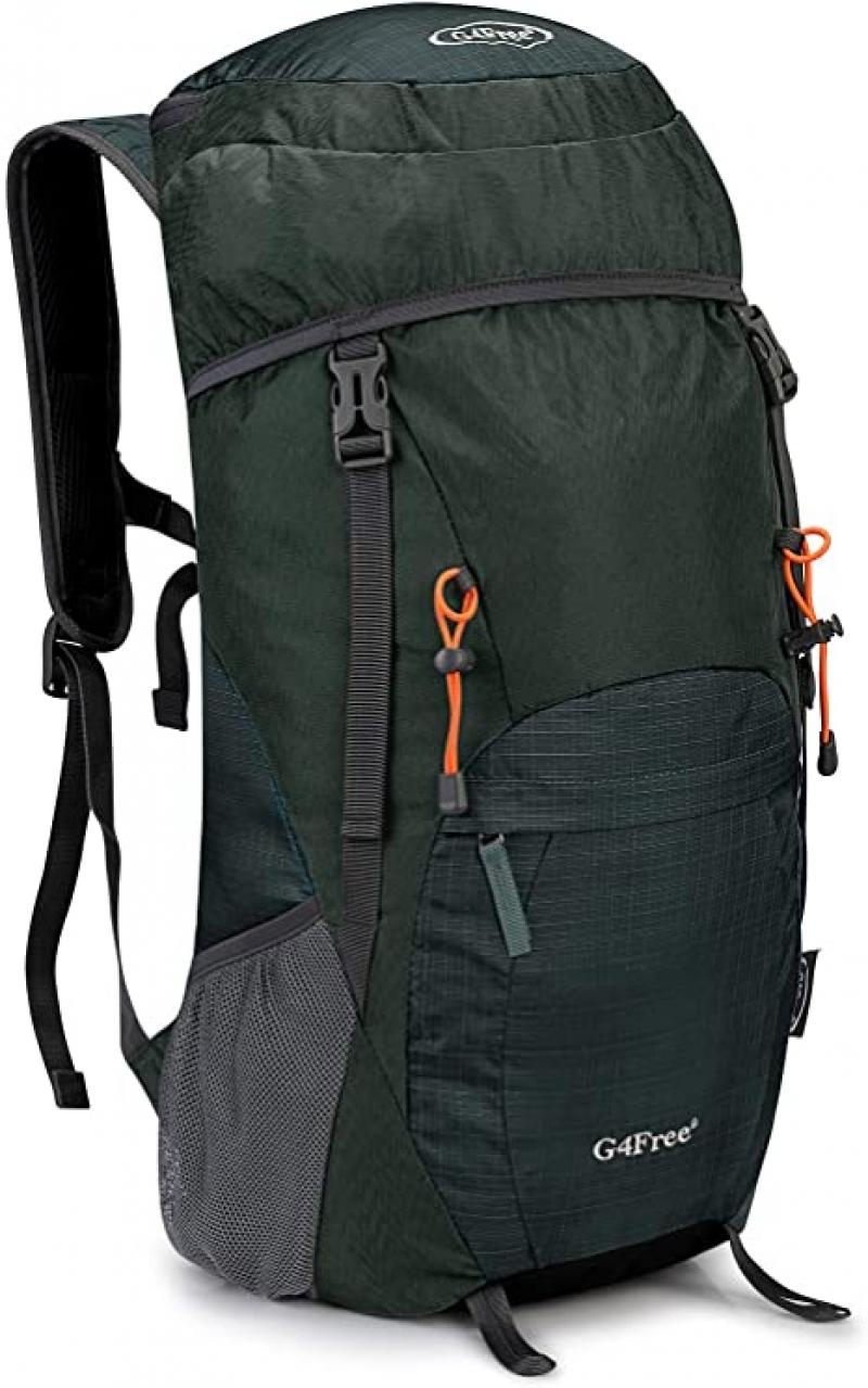 ihocon: G4Free Lightweight Packable Hiking Backpack 40L Travel Camping Daypack Foldable 輕便可折疊背包