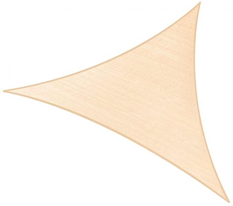 ihocon: PHI VILLA Sun Shade Sail Triangle 12' x 12' x 12', 185GSM Patio Sun Shade 遮陽布
