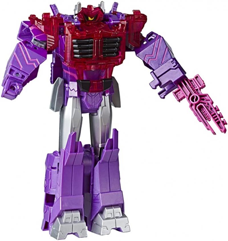ihocon: Transformers Toys Cyberverse Ultimate Class Shockwave Action Figure, 9吋 變型金剛