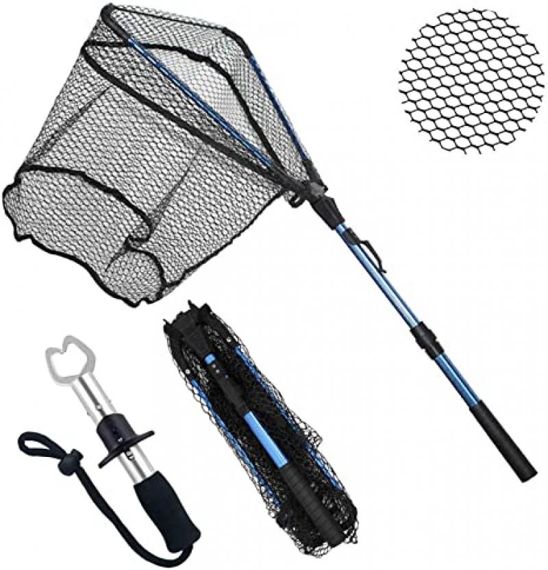 ihocon: ZHENDUO OUTDOOR Fishing Net Fishing Landing Net 可折疊伸縮漁網