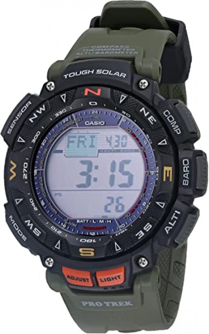 ihocon: Casio Men's Quartz Sport Watch 卡西歐太陽能男錶