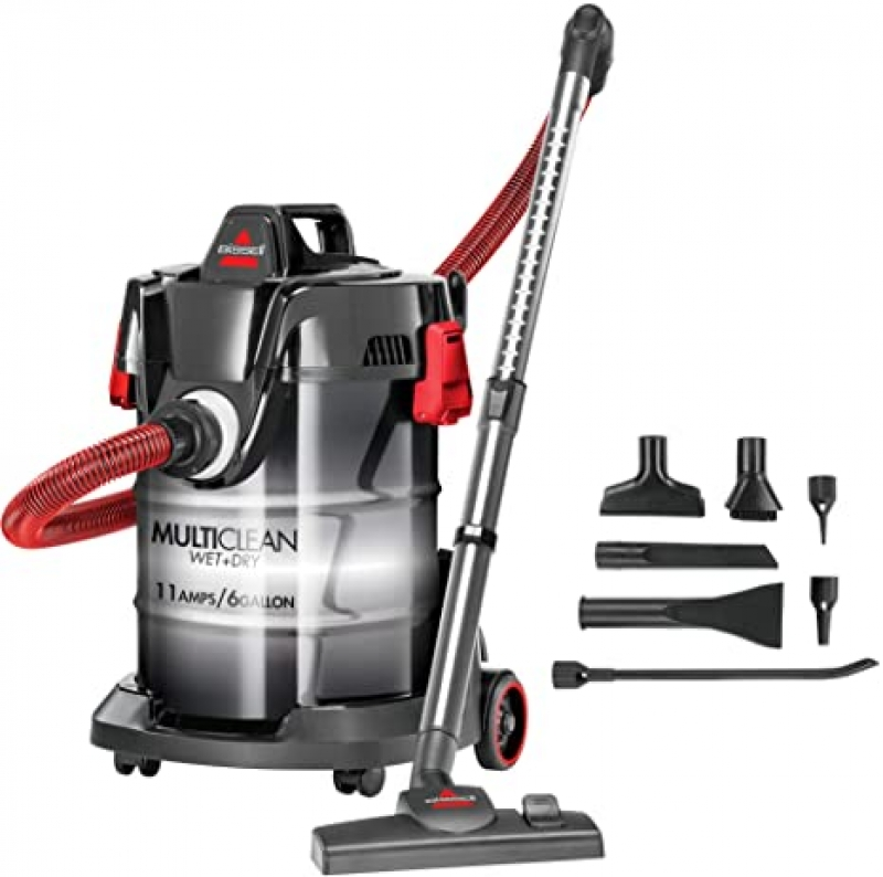 ihocon: Bissell, Red, MultiClean Wet/Dry Garage and Auto Vacuum Cleaner 乾/濕兩用吸塵器