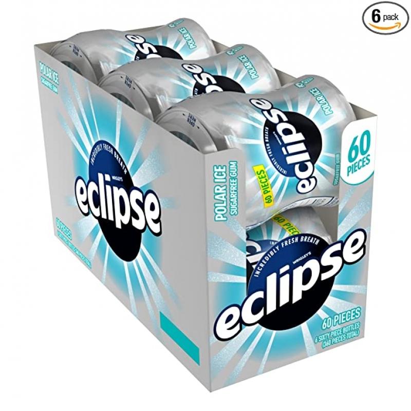 ihocon: Eclipse Polar Ice Sugar Free Gum, 60 Count (Pack of 6)   無糖口香糖,60粒裝, 6罐