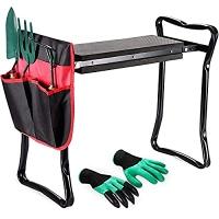 ihocon: Nausikaa Garden Kneeler and Seat, Upgraded Folding Garden Bench Stool 折疊式園藝工作椅及園藝工具