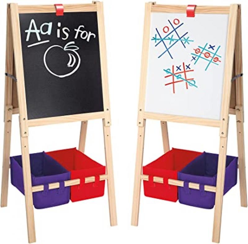 ihocon: Cra-Z-Art 3-in-1 Smartest Artist Standing Easel- Chalk Board 兒童雙面畫架