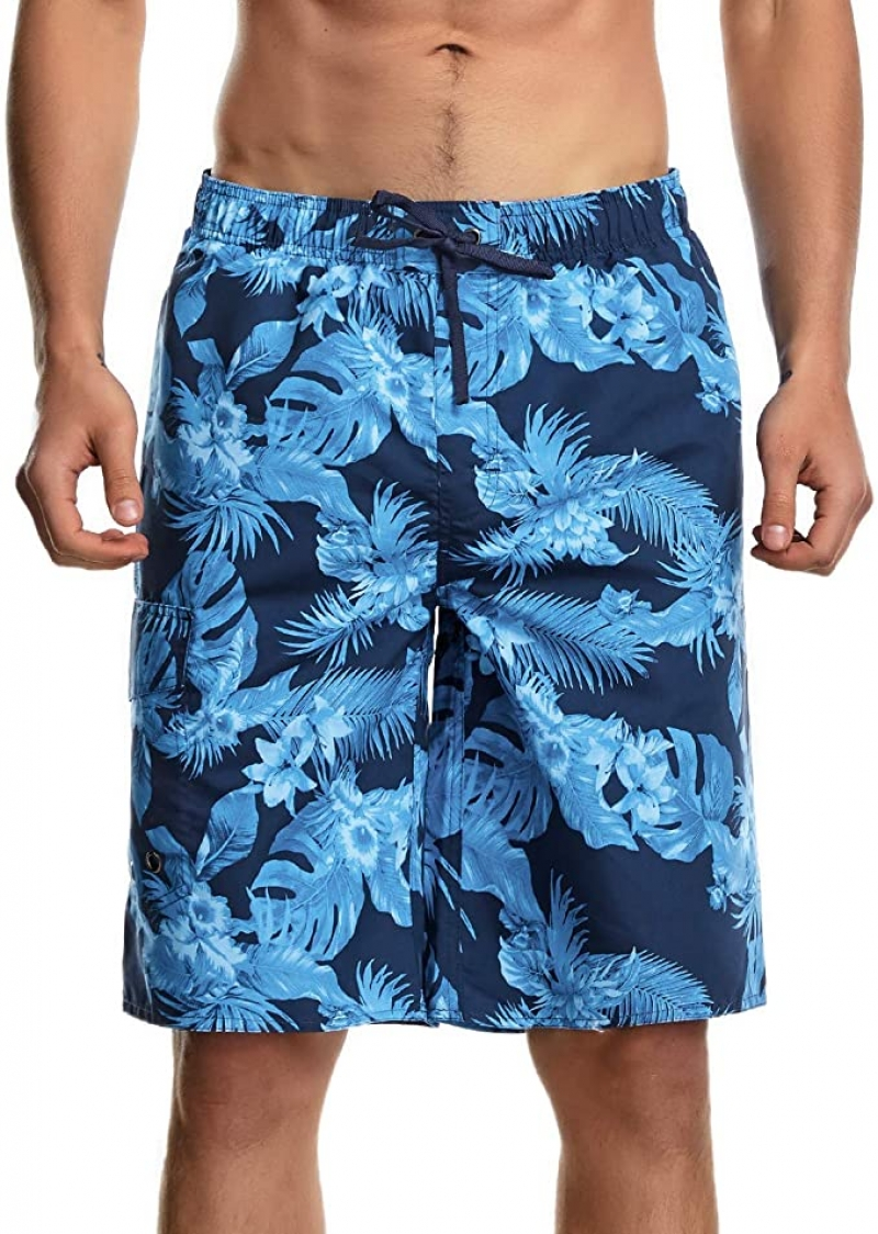 ihocon: KLY Board Shorts for Men Swim Trunks Long Quick Dry with Lining and Pockets  男士泳褲-多色可選