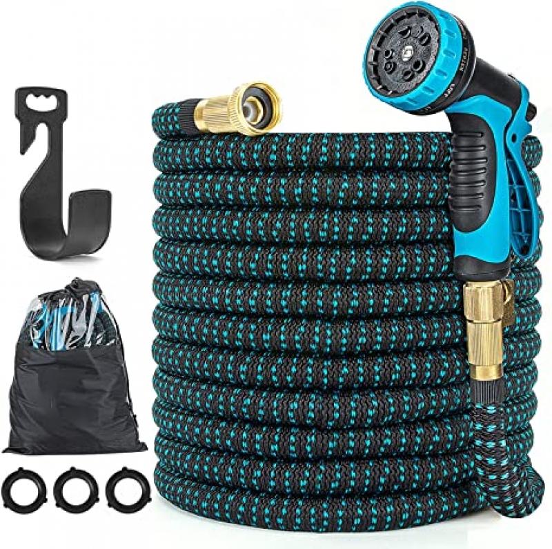 ihocon: Kusmil Expandable Garden Hose with 10 Function Nozzle - 100呎伸縮澆花水管, 含噴水頭