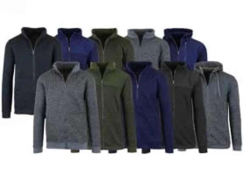 ihocon: 3PK Men's or Women's Asst Marled Fleece Zip Sweaters 男士或女士夾克3件