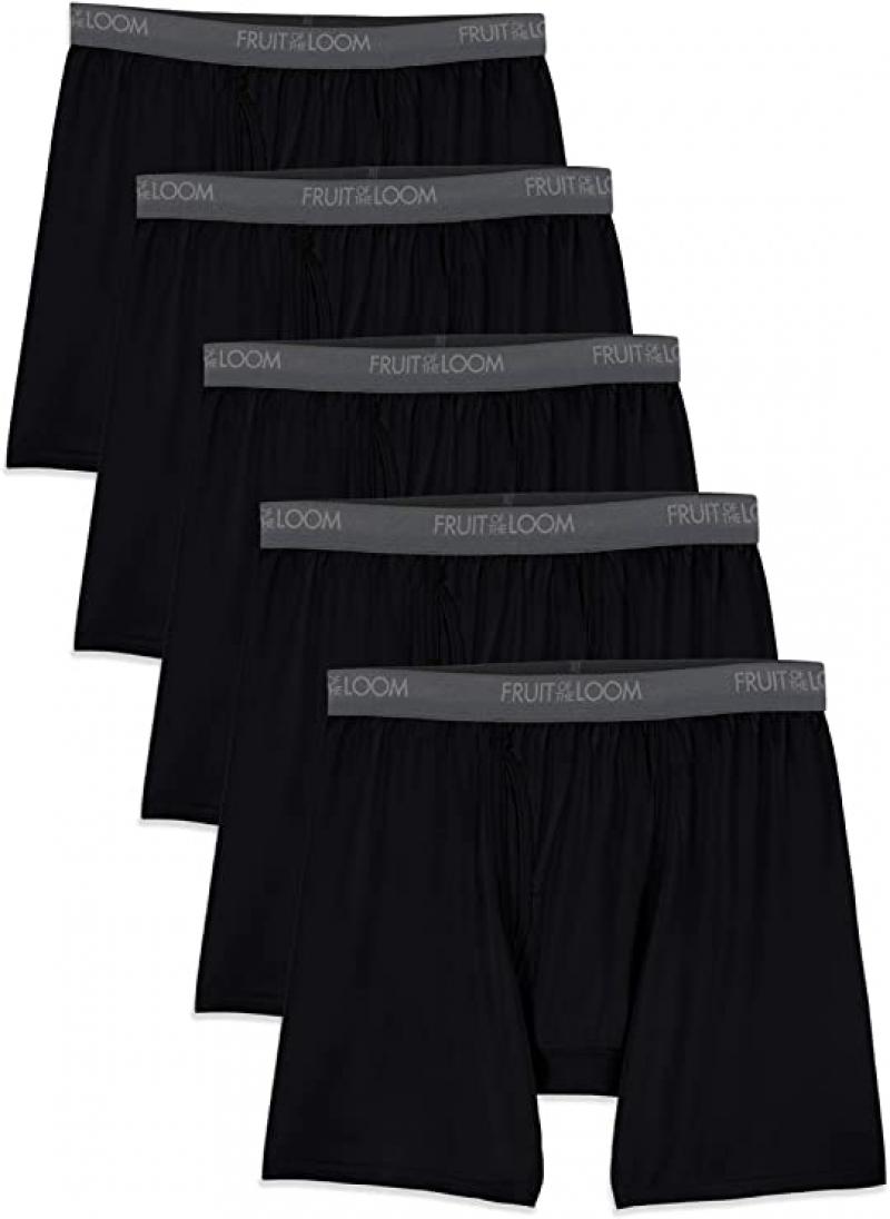 ihocon: Fruit of the Loom Men's Lightweight Micro-Stretch Boxer Briefs  男士平角內褲