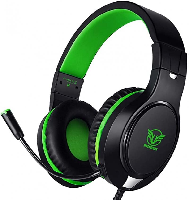 ihocon: ELCTHUNDER Noise Cancelling Over Ear Gaming Headphones with Mic 遊戲耳機(有線)