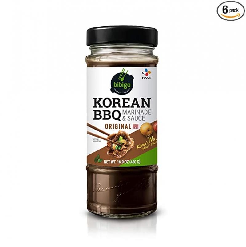 ihocon: Bibigo Korean Bbq Sauce, Original, 16.9 Ounce (Pack of 6) 韓國燒烤醬