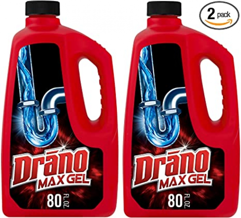 ihocon: Drano Max Gel Drain Clog Remover and Cleaner for Shower or Sink Drains, Unclogs and Removes Hair, Soap Scum, Blockages, 80 oz- Pack of 2  排水疏通/清潔劑