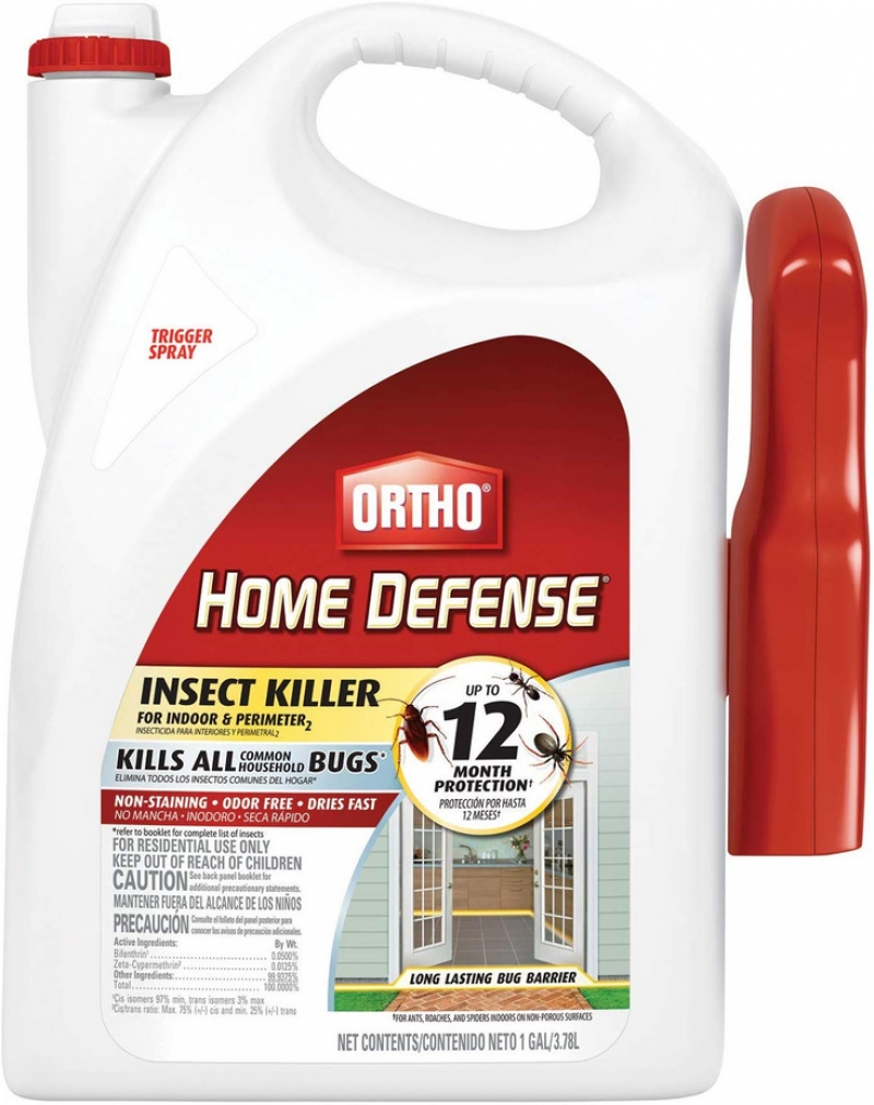 ihocon: Ortho Home Defense Insect Killer for Indoor & Perimeter2 Ready-To-Use Trigger Sprayer, 1 Gallon.  家用除蟲劑