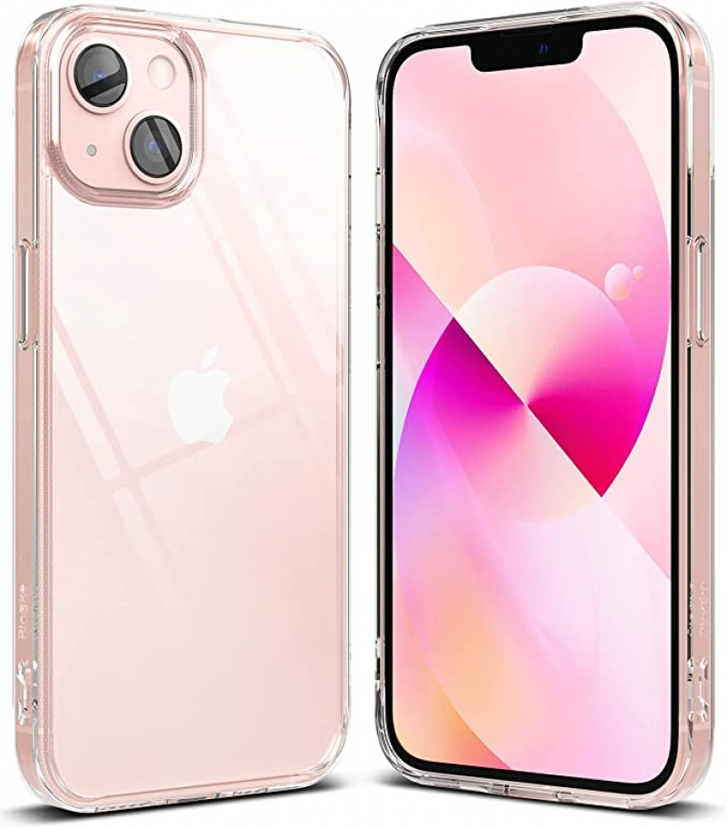 ihocon: Ringke Fusion Compatible with iPhone 13 Case, Hard Minimal Yellowing Clear Back Shockproof Soft TPU Bumper Phone Cover for 6.1-inch 保護殼