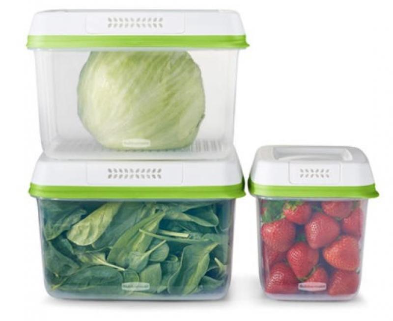 ihocon: Rubbermaid FreshWorks Produce Saver 6-Piece Set食物保鮮盒 3個