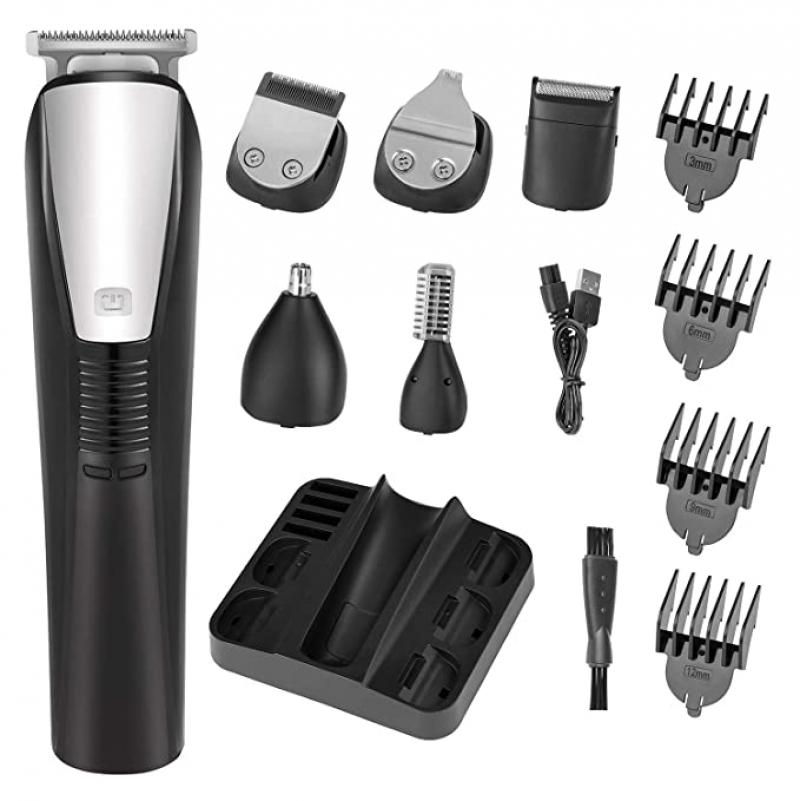 ihocon: Roziaplus 6 in 1 Waterproof Grooming Kit Mens Hair Clipper 電動理髮/修容器