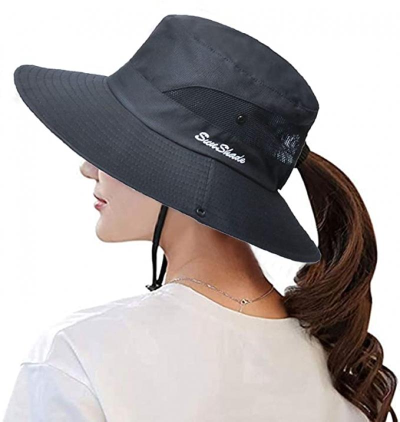 ihocon: Pogah Women's Summer Sun-Hat Ponytail 遮陽女帽