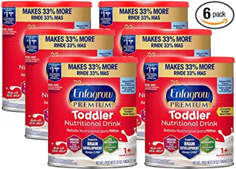 ihocon: Enfamil Enfagrow Premium Toddler Nutritional Drink (Ages 1+), 32 oz (Pack of 6)   幼兒營養補充飲品