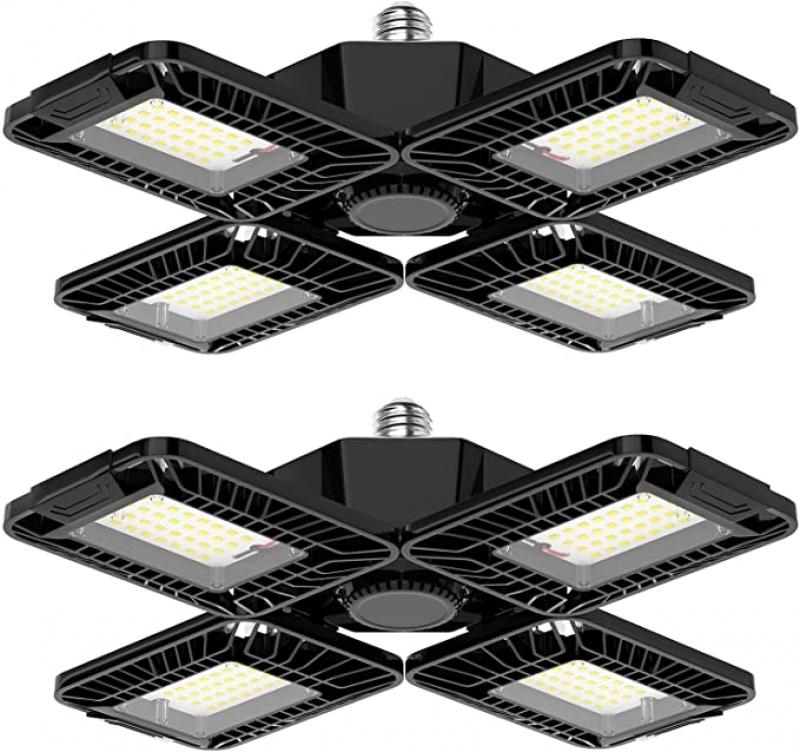 ihocon: Becament LED Garage Lights 2 Pack - 80W 8000LM 車庫燈/天花板燈 2盞