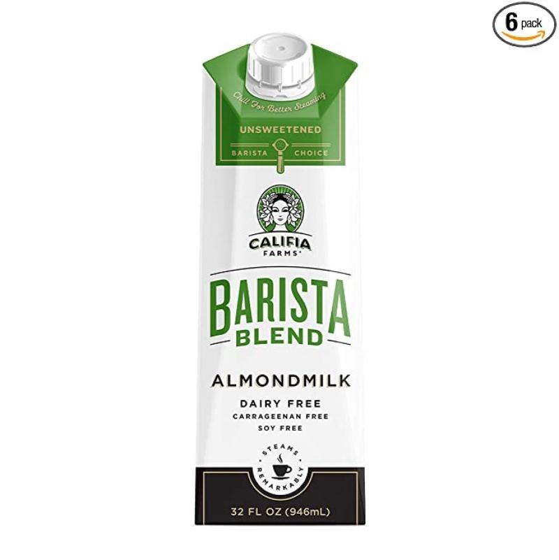ihocon: Califia Farms Almond Milk, Unsweetened Barista Blend, 32 Oz (Pack of 6) 無糖杏仁奶