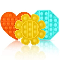 ihocon: NEIQII 3 Pack Push Pop Bubble Sensory Fidget Toy 矽膠減壓玩具 3個