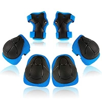 ihocon: KOOVAGI Knee Pads for Kids Toddler Knee Pads and Elbow Pads Set with Wrist Guards 兒童護膝+護肘+護腕-多色可選