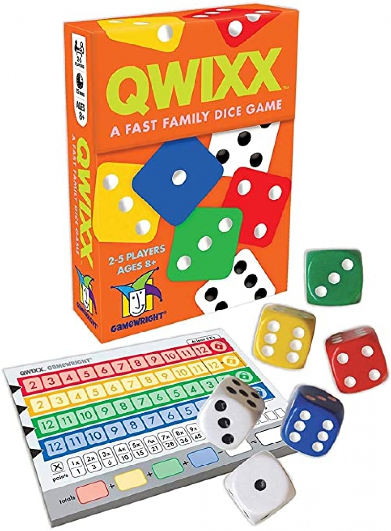 ihocon: Gamewright Qwixx - A Fast Family Dice Game 桌遊-骰子遊戲
