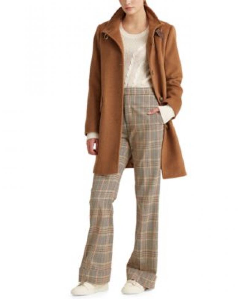 ihocon: Lauren Ralph Lauren Buckle-Collar Coat 女士羊毛混紡大衣-多色可選
