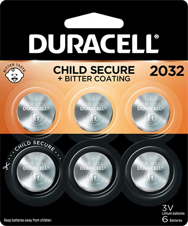 ihocon: Duracell 2032 Lithium Coin Battery 3V, 6 Count 鈕扣電池