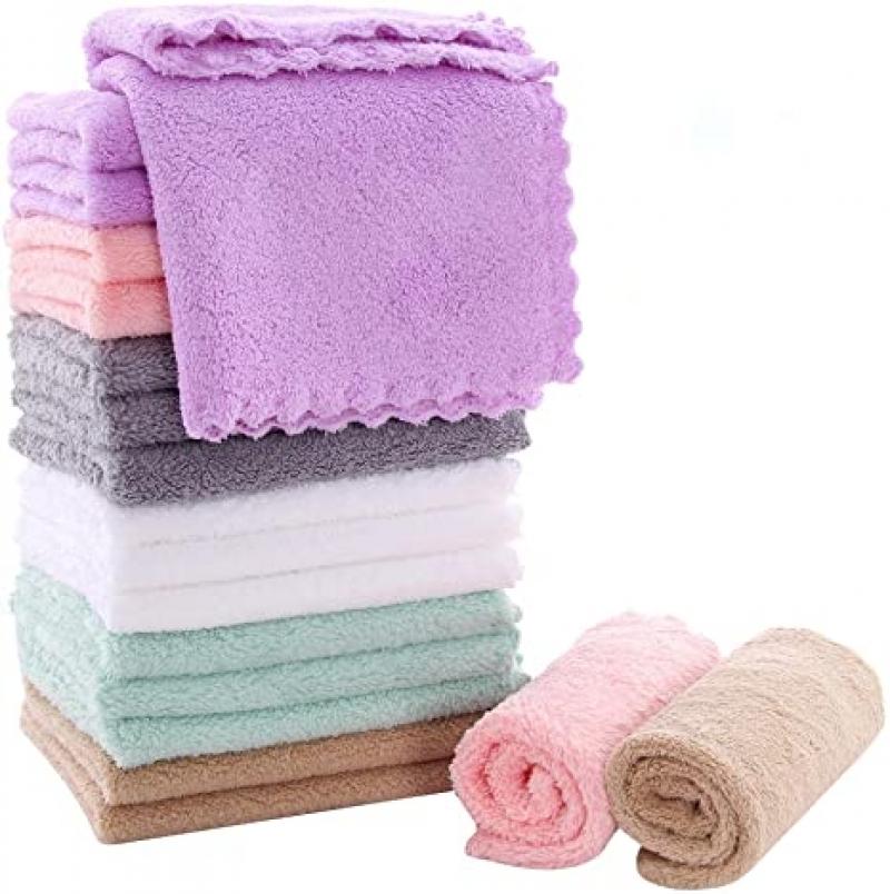 ihocon: Sunny zzzZZ 18 Pack Microfiber Cleaning Cloth 10 × 10吋清潔抹布
