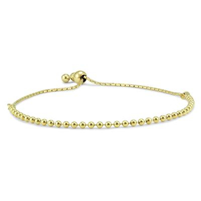 ihocon: Bolo Bracelet in Yellow Gold Plated .925 Sterling Silver 0.925 純銀鍍金手鍊
