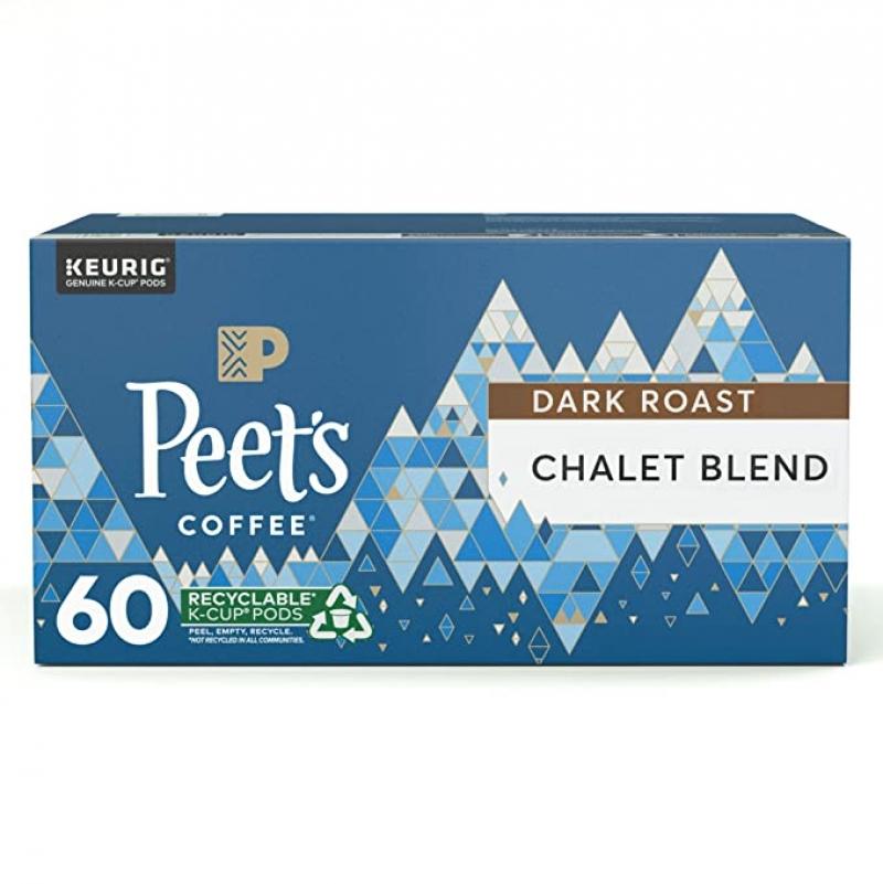 Peet's Coffee Chalet Blend K-Cup咖啡膠囊 60個 $22.48(原價$34.59)