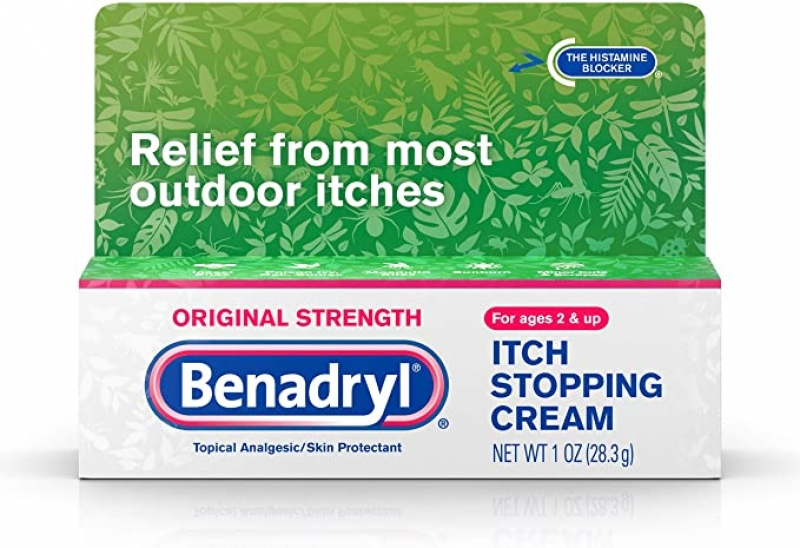 ihocon: Benadryl Original Strength Anti-Itch Relief Cream for Most Outdoor Itches, Topical Analgesic, 1 oz  過敏藥膏