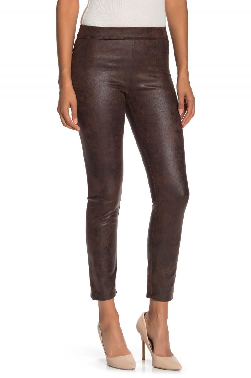 ihocon: MAX STUDIO Faux Leather Leggings  女士仿皮緊身褲