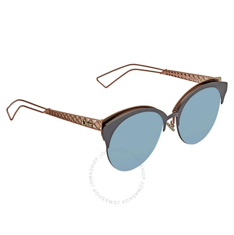 ihocon: Dior Light Blue Cat Eye Ladies Sunglasses DIORAMACLUB FBX/A4 55  女士貓眼太陽眼鏡