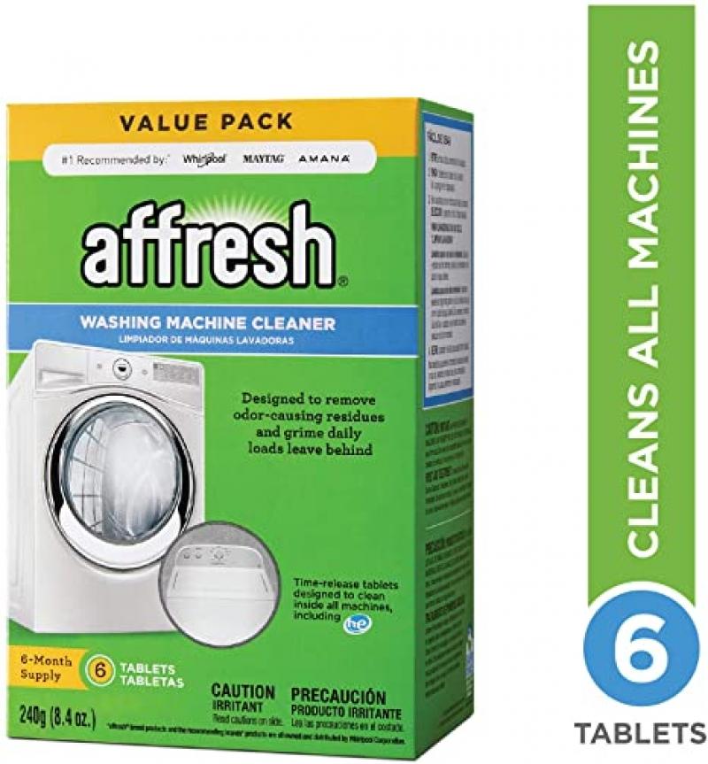 ihocon: Affresh Washer Machine Cleaner, 6-Tablets, 8.4 oz  洗衣機(機器用)清潔劑