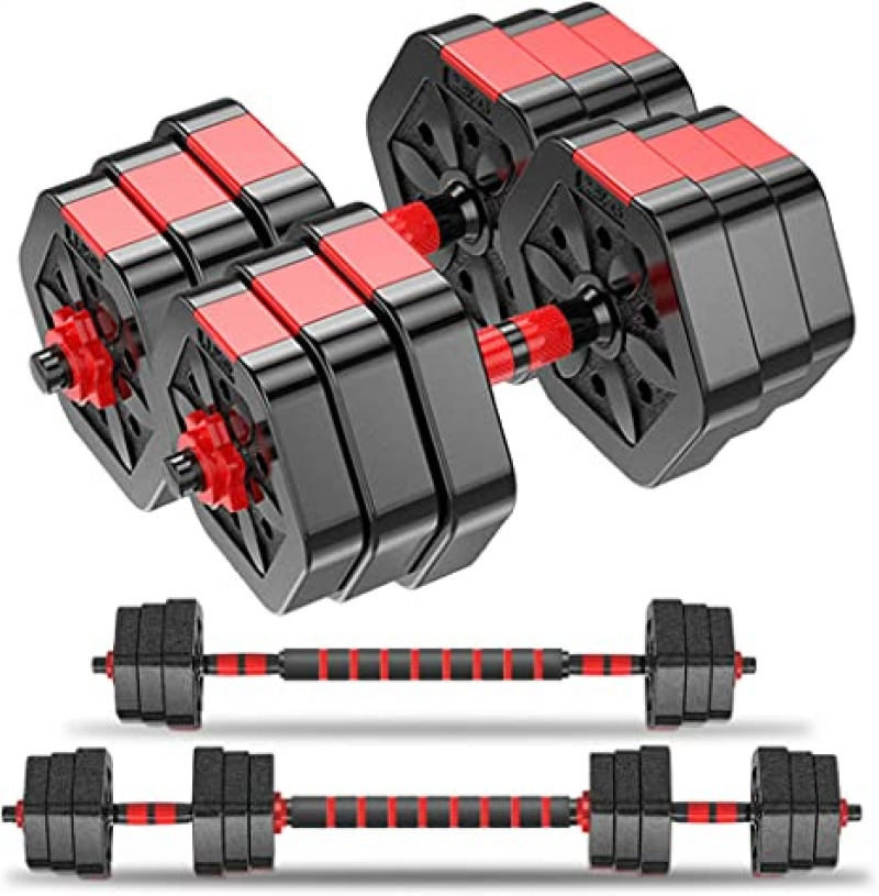 ihocon: Invigalux Barbell Weight Set with Connecting Rod from 可調式啞鈴及槓鈴
