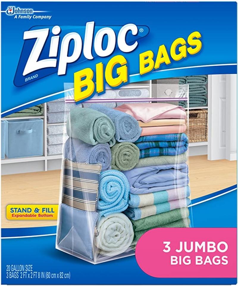 Ziploc 超大儲物袋 3個 $6.17(原價$7.15)