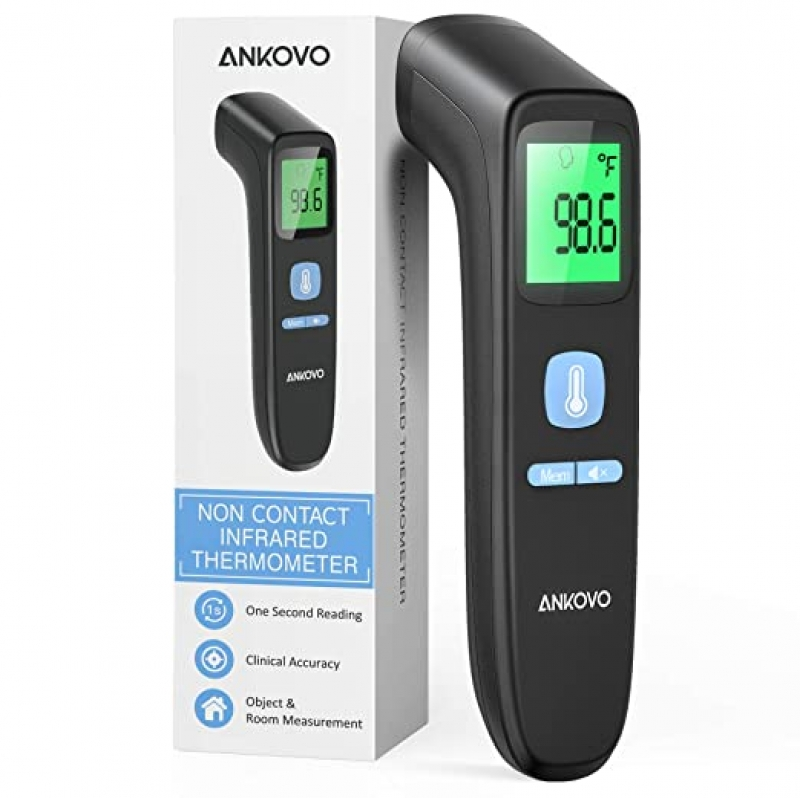 ihocon: ANKOVO Touchless Thermometer for Adults 額頭溫度計