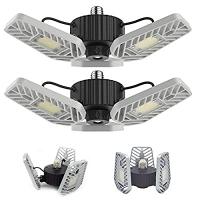 ihocon: LZHOME 2-PACK LED Garage Lights, 6500Lumens 可調角度車庫燈/天花板燈 2盞
