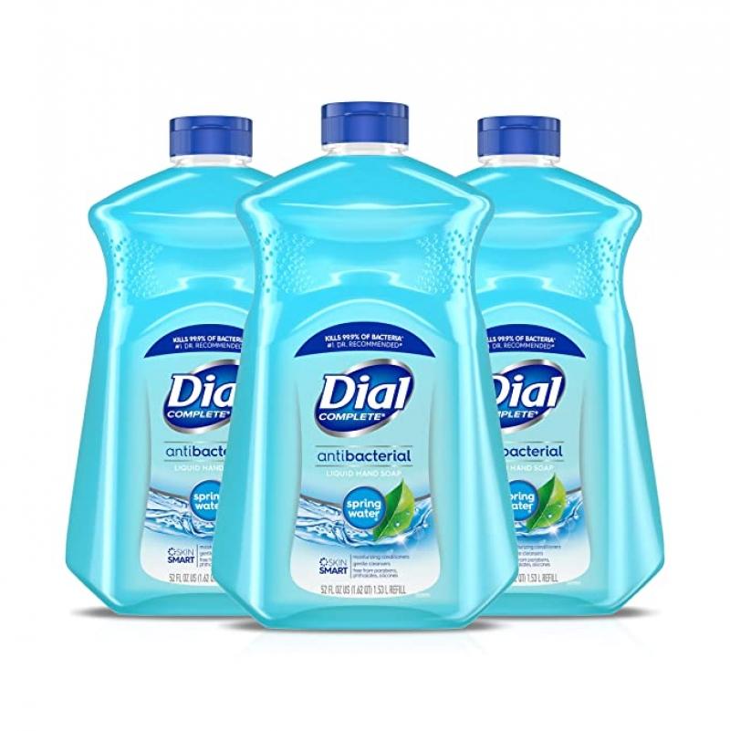 ihocon: Dial Antibacterial Liquid Hand Soap Refill, Spring Water, 52 Fluid Oz (Pack of 3)  抗菌洗手液皂補充瓶