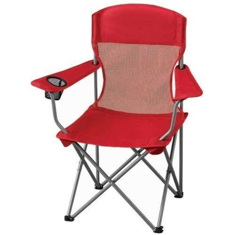 ihocon: Ozark Trail Basic Mesh Folding Camp Chair with Cup Holder for Outdoor 休閒折疊椅-2色可選
