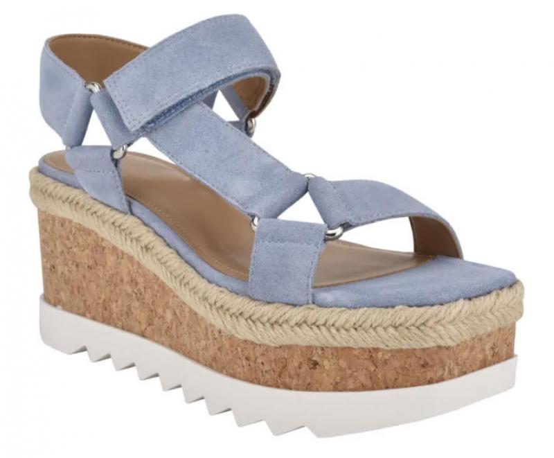 ihocon: MARC FISHER LTD Gylian Platform Wedge Sandal 女士厚底坡跟涼鞋