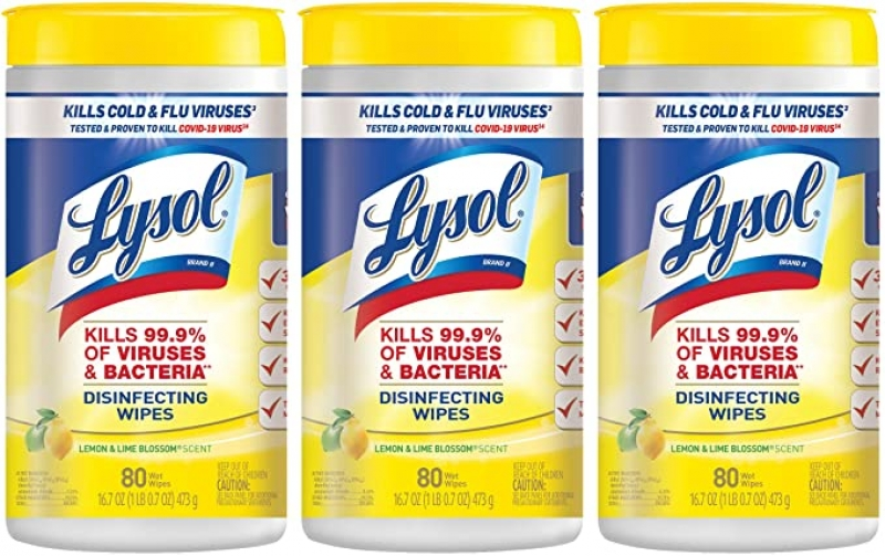 ihocon: Lysol Disinfectant Wipes, 240 Count (Pack of 3)  消毒濕巾